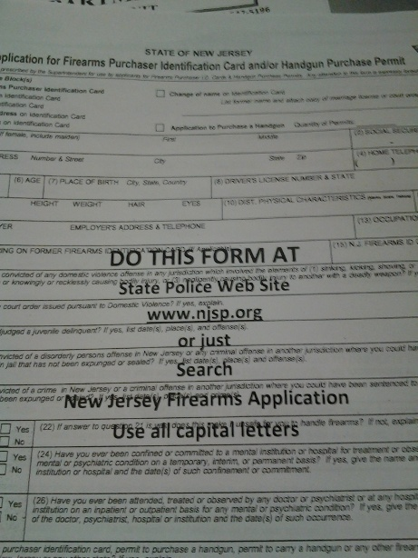 Mission: Obtain my NJ Firearms Purchaser ID card | NYC Patriot